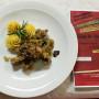 08 Manzo alla Stroganoff con cipolle e funghi e patate